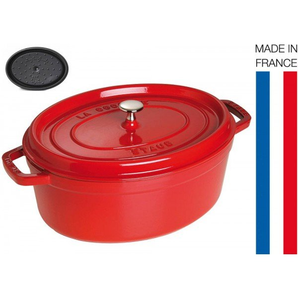cocotte fonte ovale 33cm rouge staub. Black Bedroom Furniture Sets. Home Design Ideas