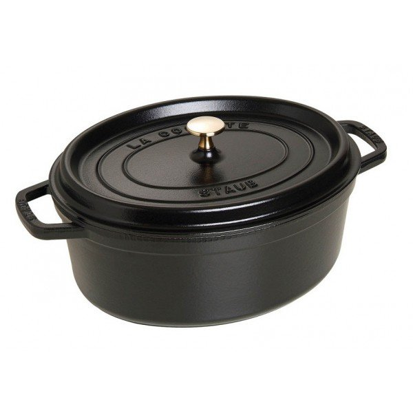 cocotte fonte ovale 33cm noir staub. Black Bedroom Furniture Sets. Home Design Ideas