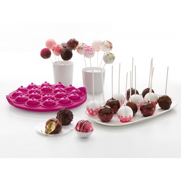 moule cake pop rose l ku. Black Bedroom Furniture Sets. Home Design Ideas