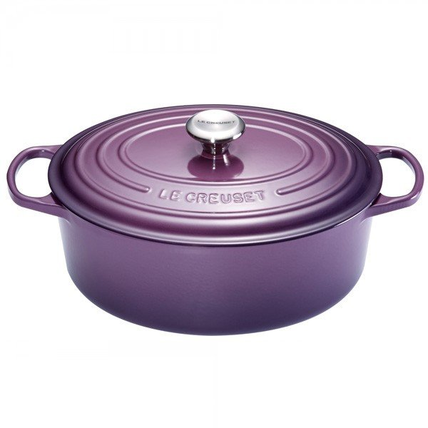 cocotte fonte ovale signature 31cm cassis le creuset. Black Bedroom Furniture Sets. Home Design Ideas