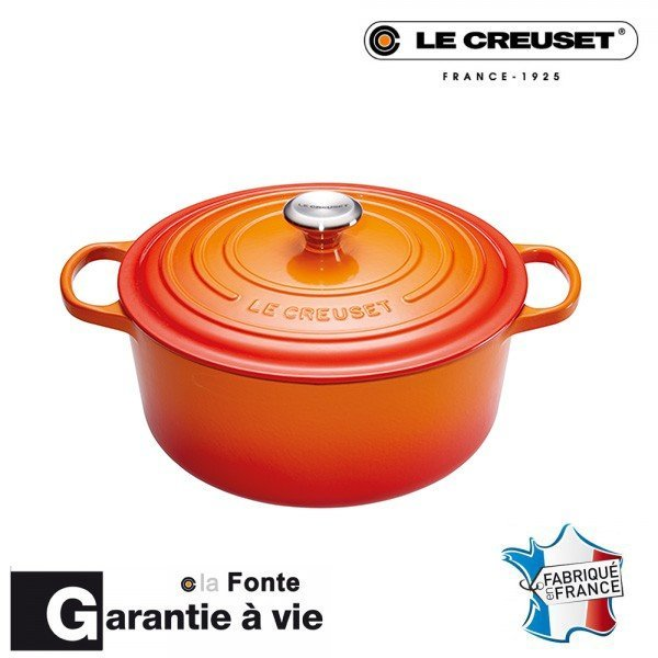 cocotte fonte signature 28cm volcanic le creuset. Black Bedroom Furniture Sets. Home Design Ideas