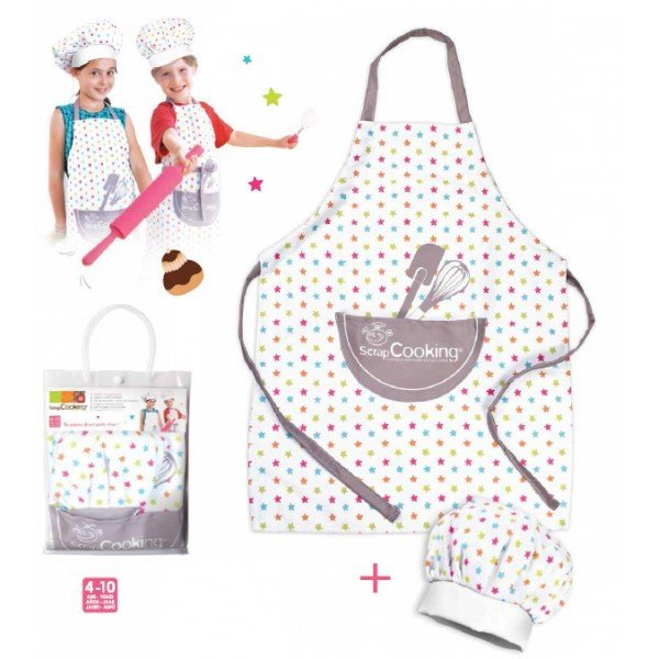 Set Tablier + toque enfant - ScrapCooking - MaSpatule.com
