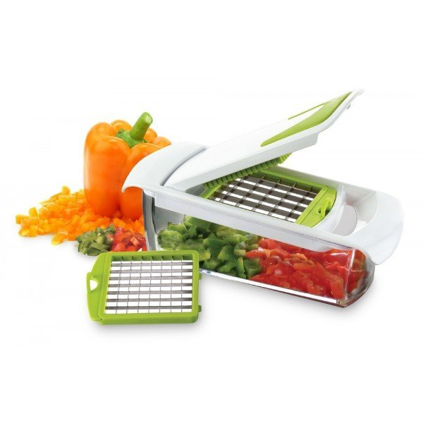 Coupe l gumes 2 grilles r servoir yoko design - Coupe legumes alligator avec reservoir ...