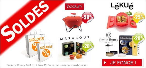 les soldes sur les ustensiles de cuisine de marque jusqu 39 50 sur blog de. Black Bedroom Furniture Sets. Home Design Ideas