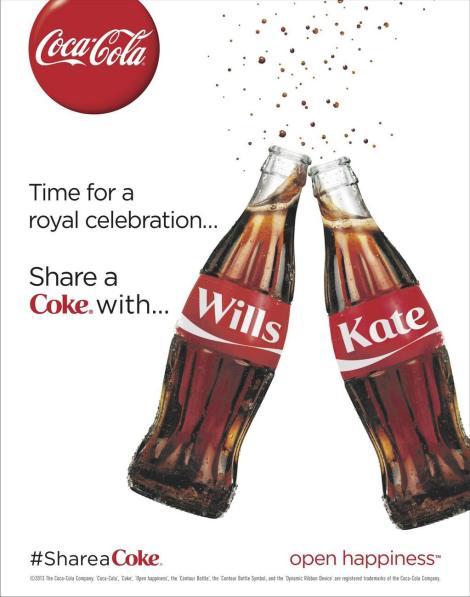 Pub coca-cola Royal Baby