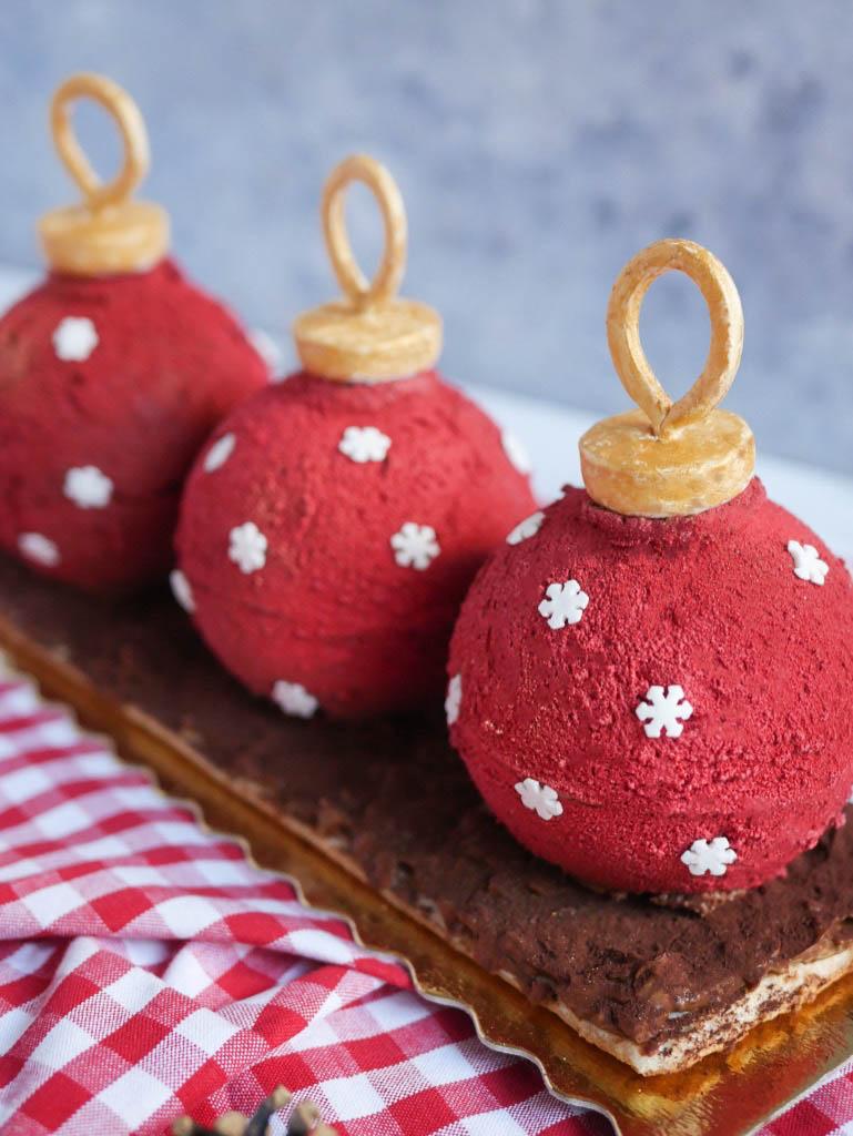 Recette Royal Chocolat revisité façon Boules de Noël   Blog MaSpatule