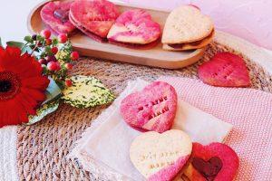 Sablés cœur amande et ganache chocolat