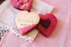Sables cœur amande et ganache chocolat