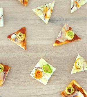 Recette mini pizzas aux légumes