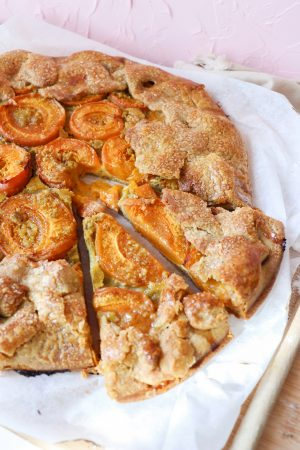 Recette tarte rustique abricot
