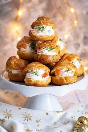 Recette Gougères saumon