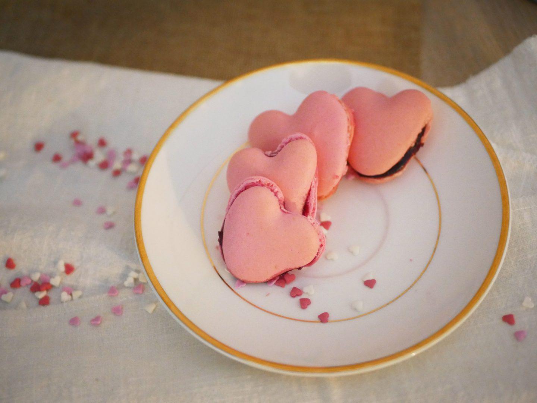 Recette macarons cœurs framboise