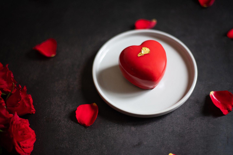 Recette entremets cœur Saint valentin