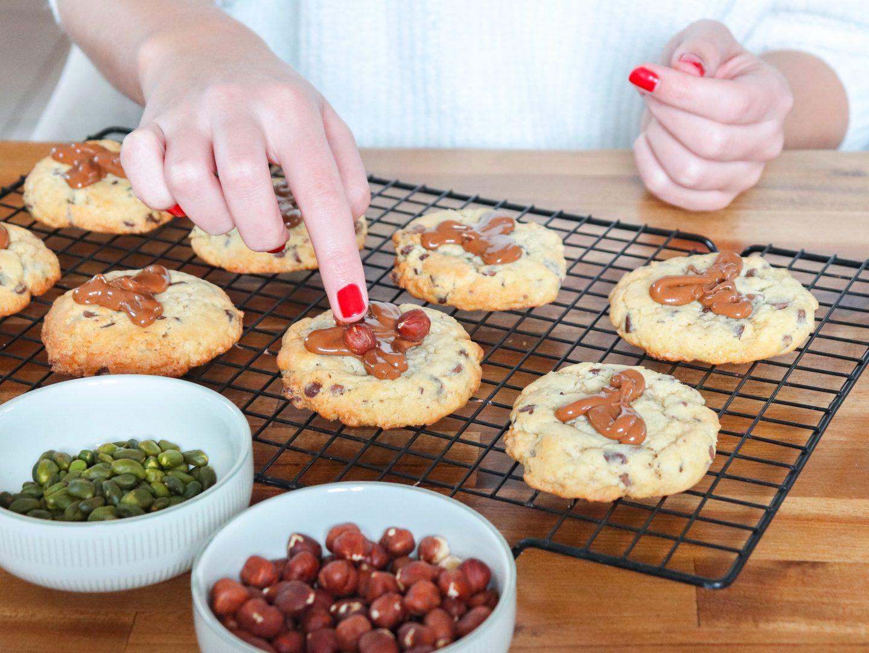 Recette cookies chocolat praliné