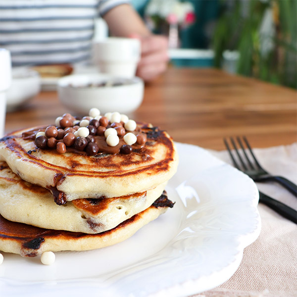 Recette pancakes aux pépites de chocolat
