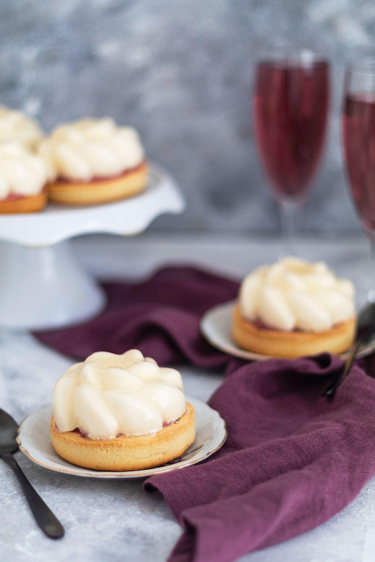 Tartelettes rose litchi framboise