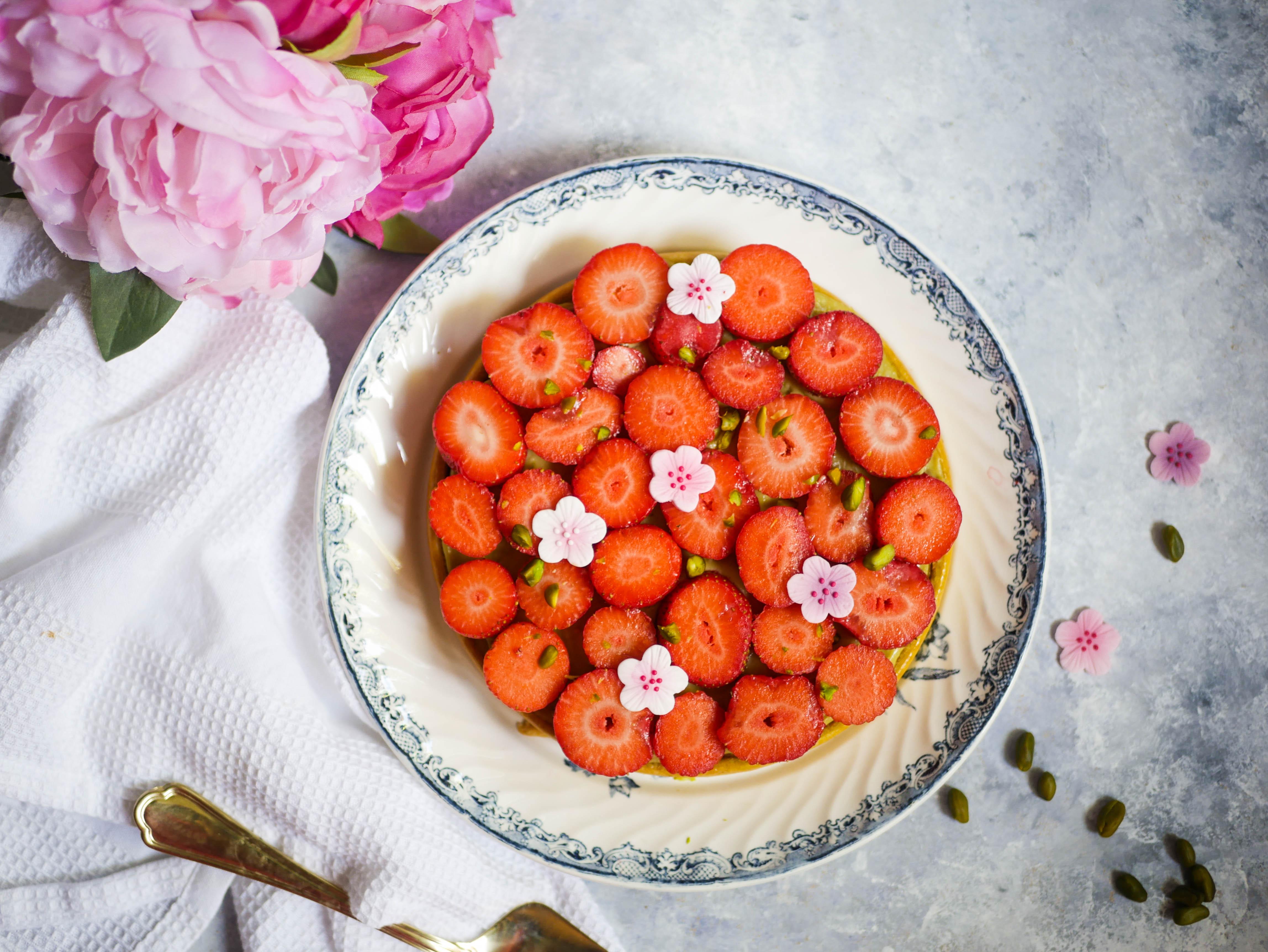 tarte fraises fete des meres