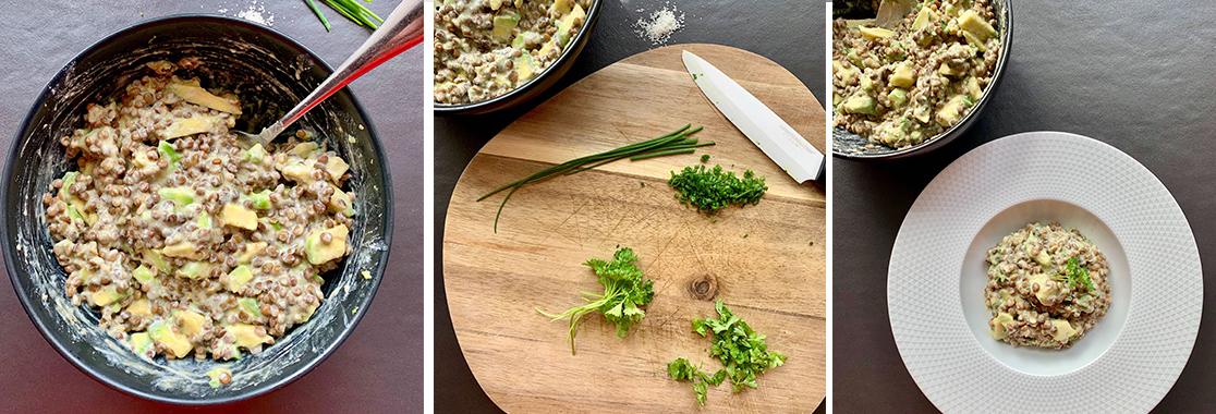 slider x3 3 salade lentilles avocat