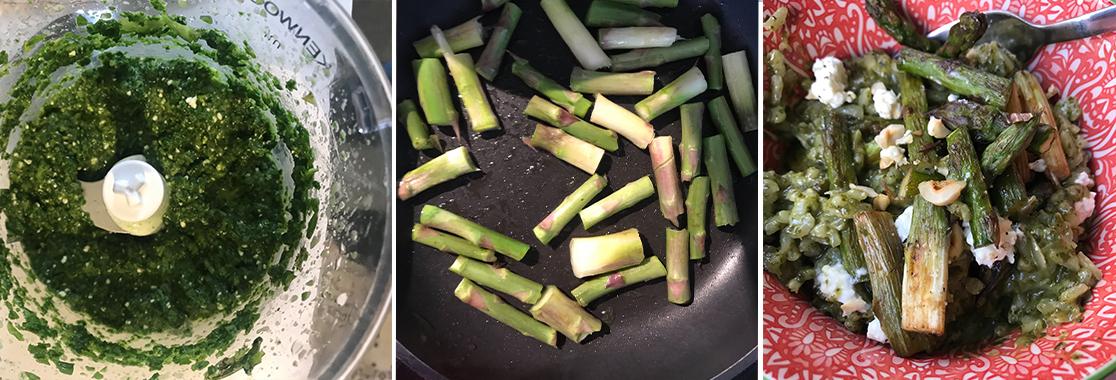 slider x3 risotto asperges