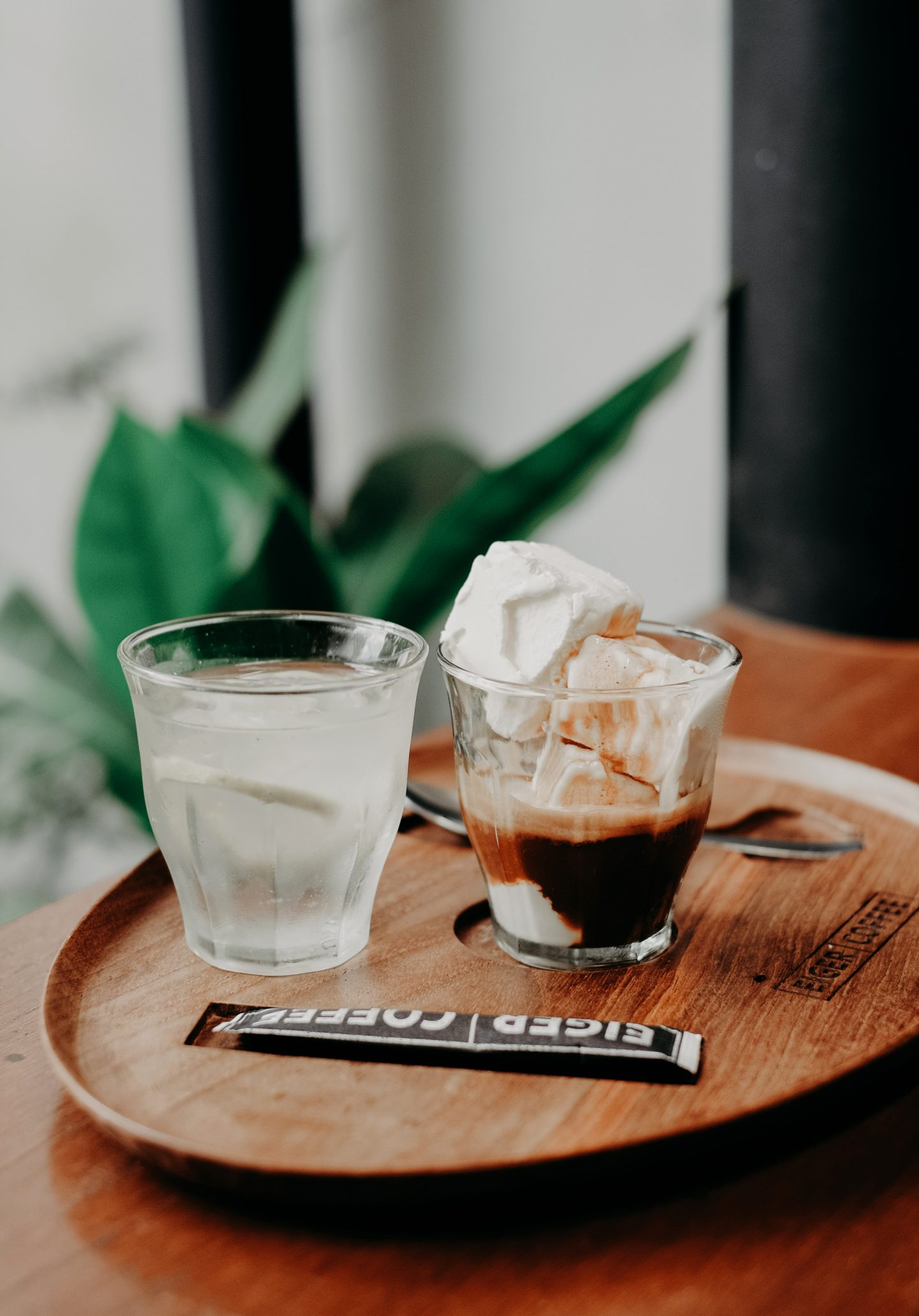 café froid : affogato