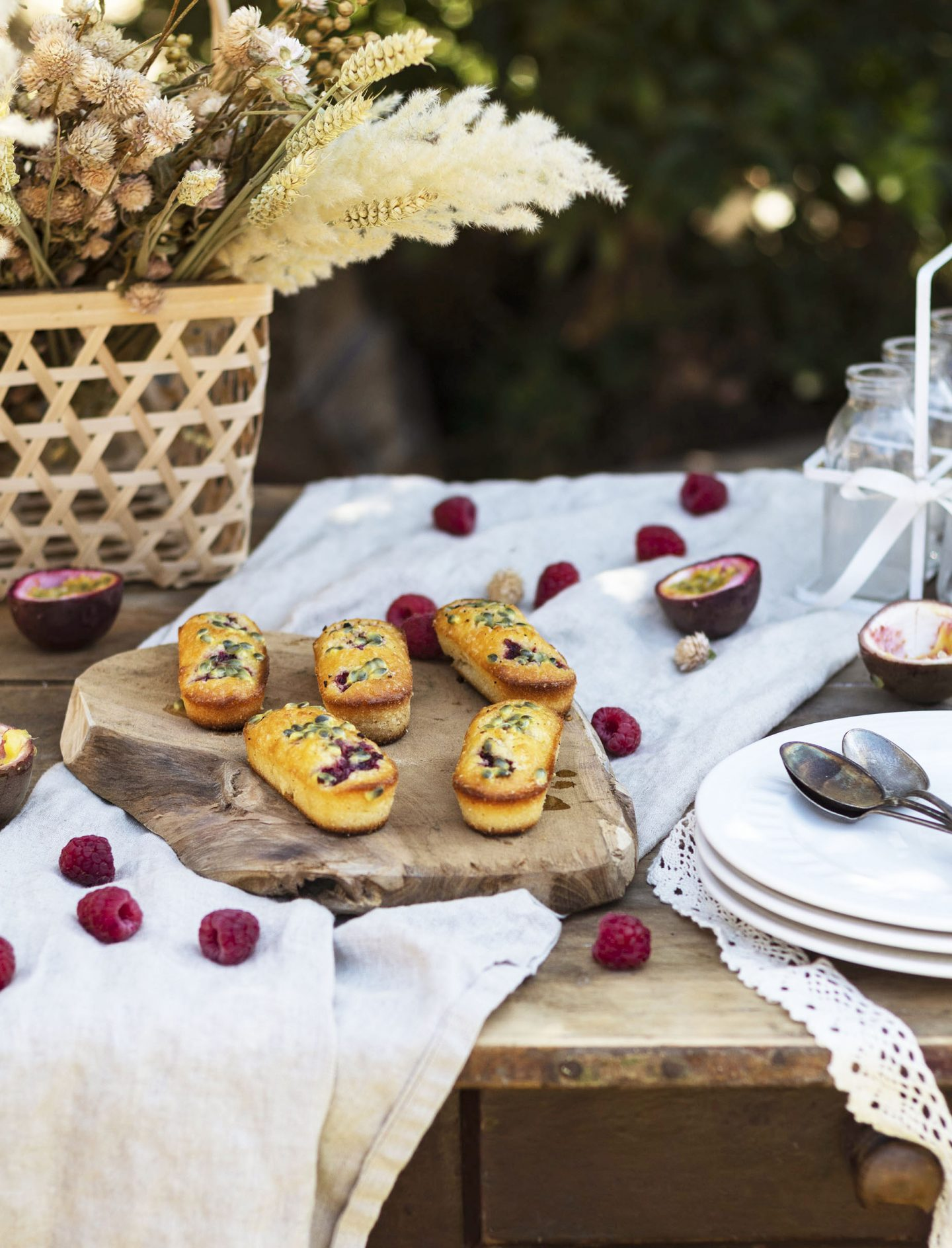 mini cakes passion framboise
