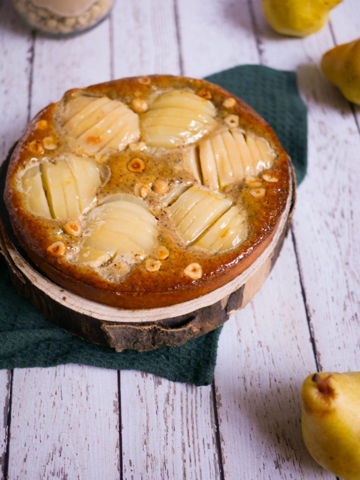Image de la tarte poire tonka pour illustrer la recette de tarte poire tonka