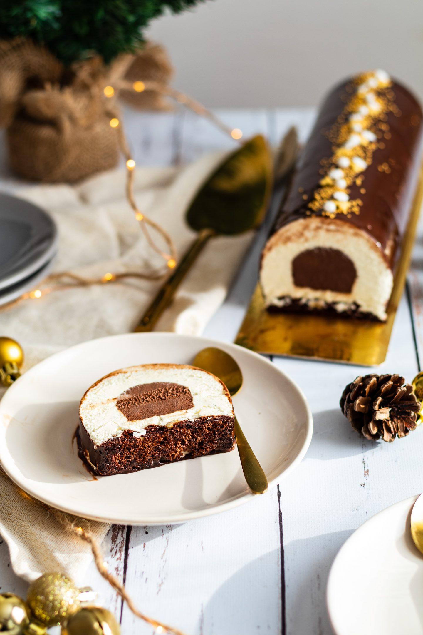 Recette bûche de Noël chocolat et vanille