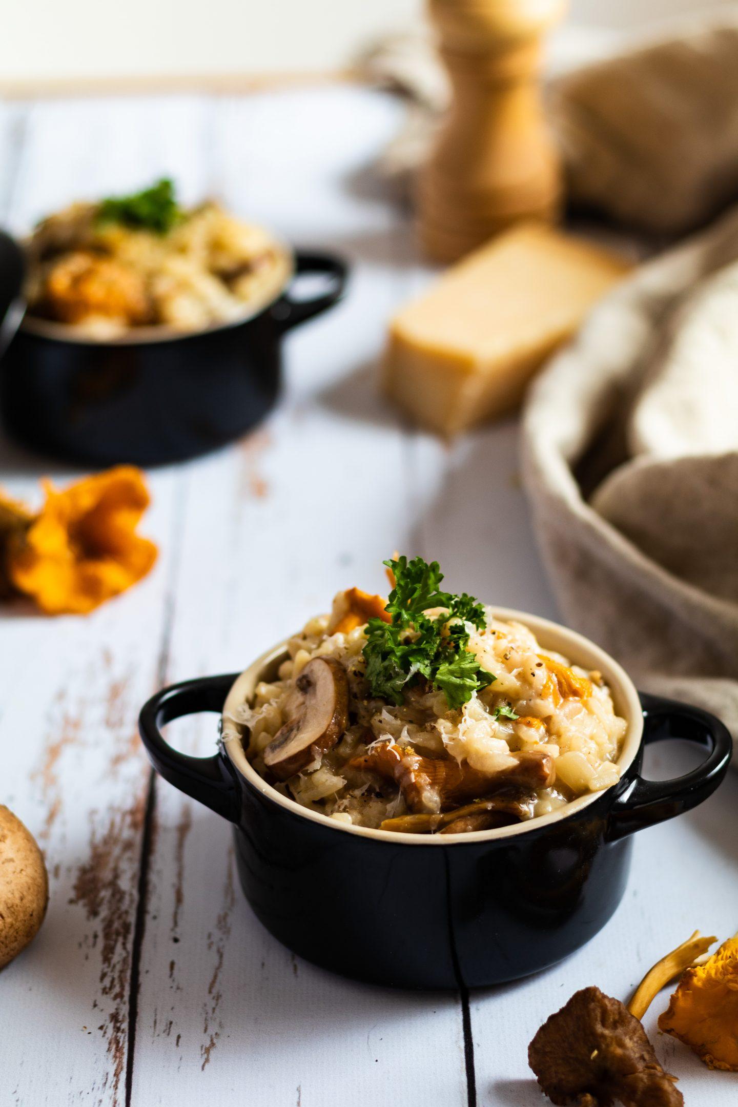 Recette de risotto aux champignons