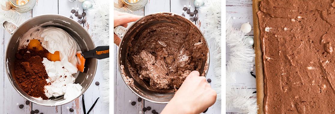 pas a pas bûche marrons et chocolat