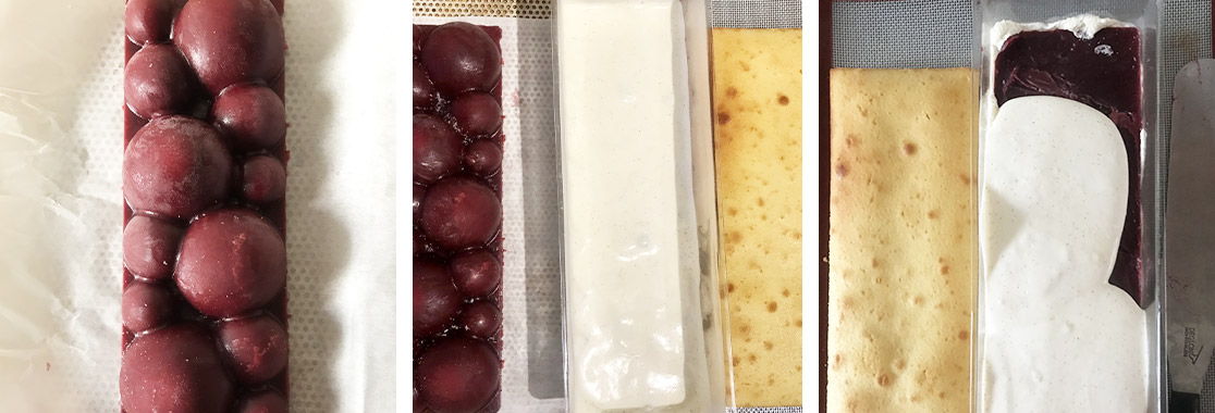 Recette bûche framboises et vanille
