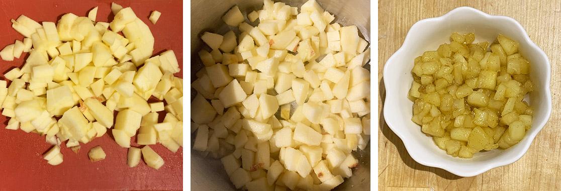 Recette galette aux pommes et crème d'amandes