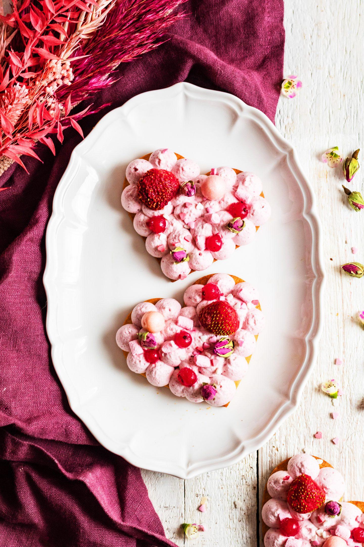 Recette Tartelette de cheesecake en cœur