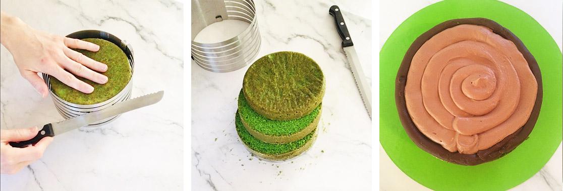 Recette Layer cake dinosaure