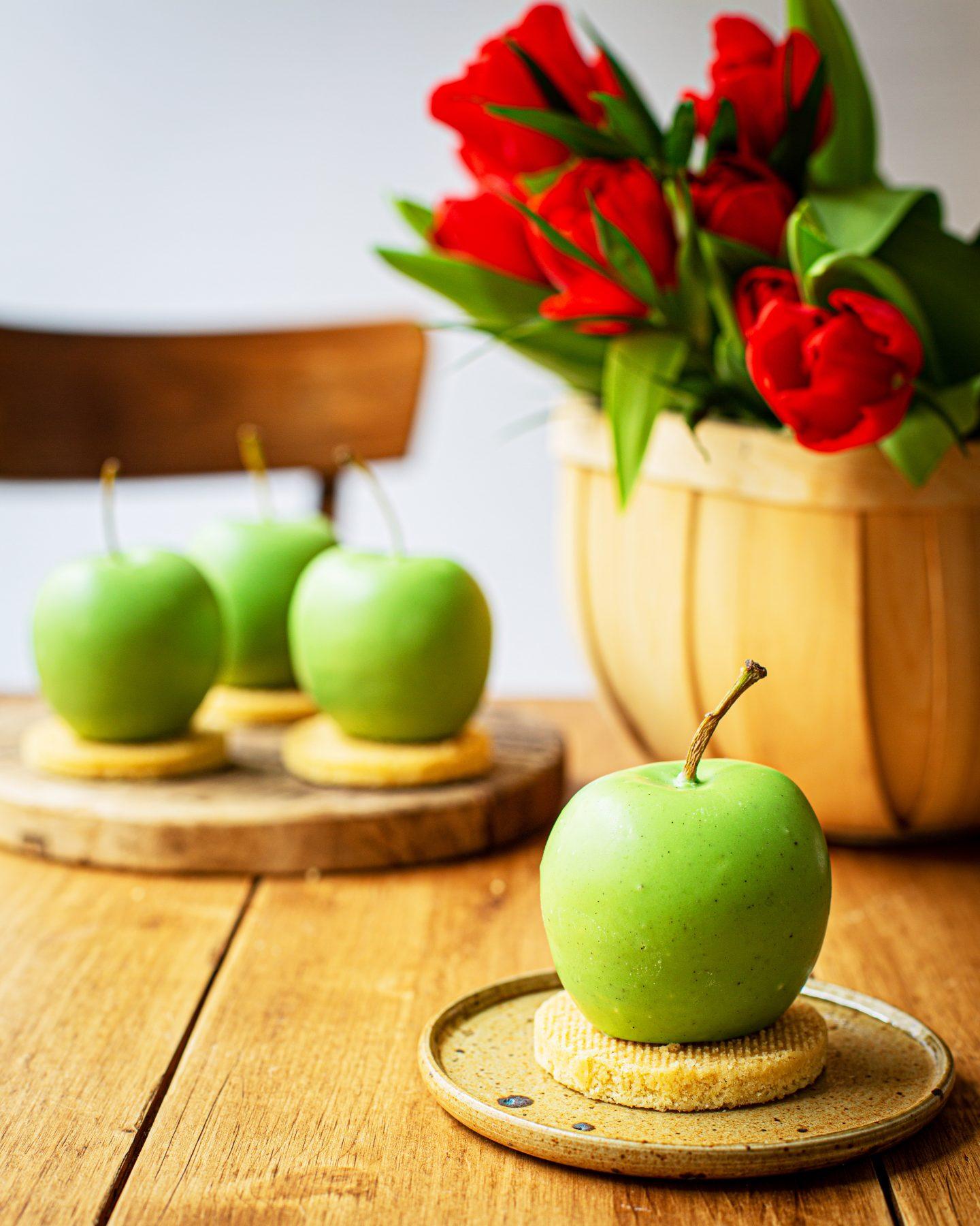 Recette Entremets pomme vanille cannelle