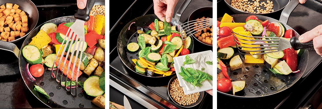 Recette salade légumes grillés