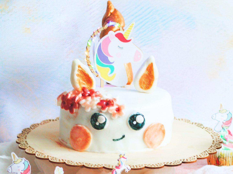 Recette Gâteau Kawaii cake licorne