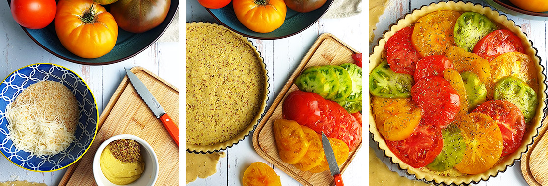 Recette Tarte tomates moutarde