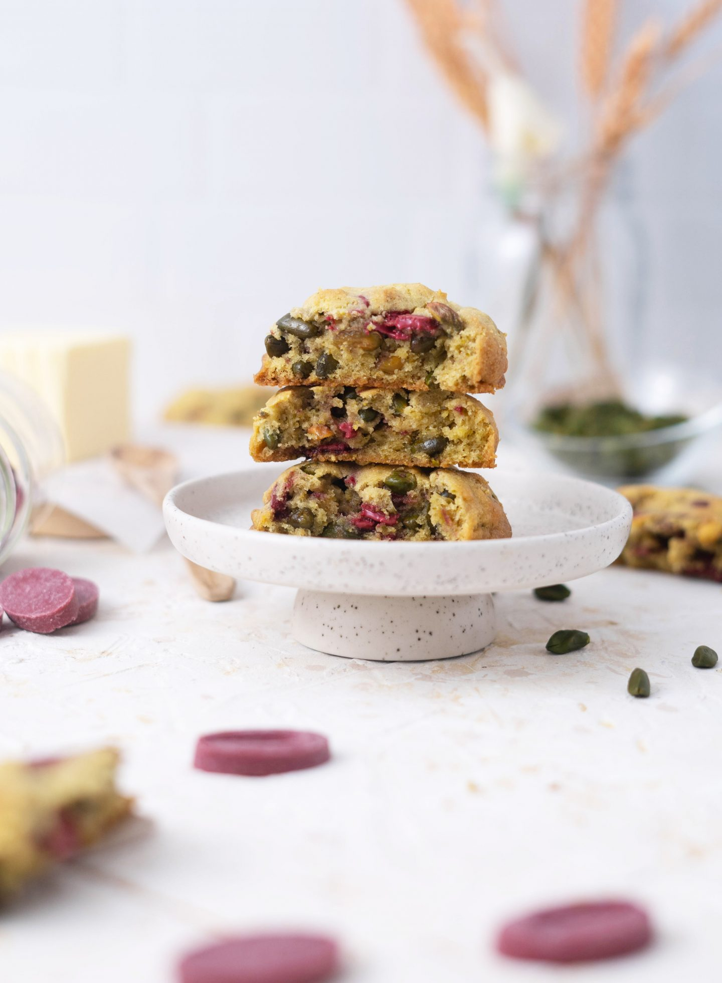 Recette Cookies pistache framboise