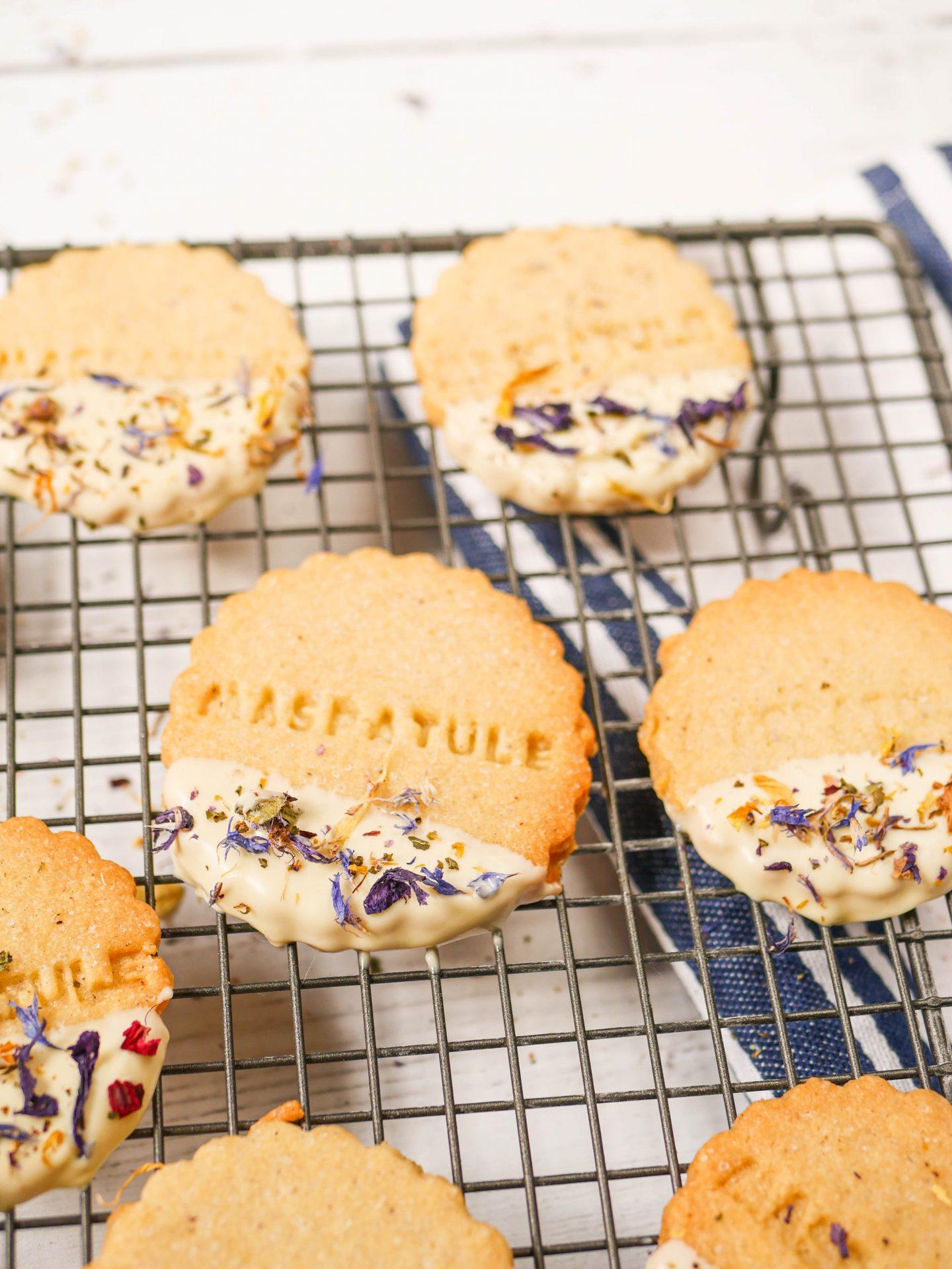 Recette Biscuit fleurs séchées